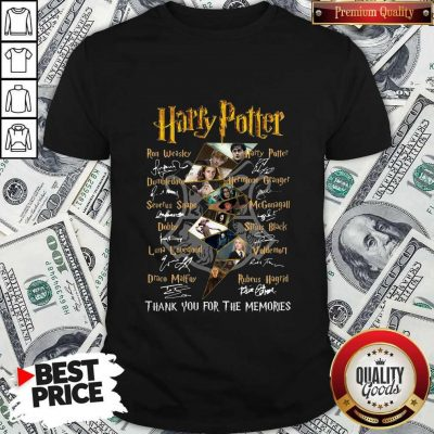Top Harry Potter Character Thank You For The Memories Signature Shirt