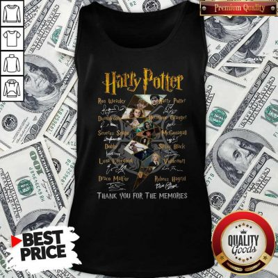 Top Harry Potter Character Thank You For The Memories Signature Tank Top