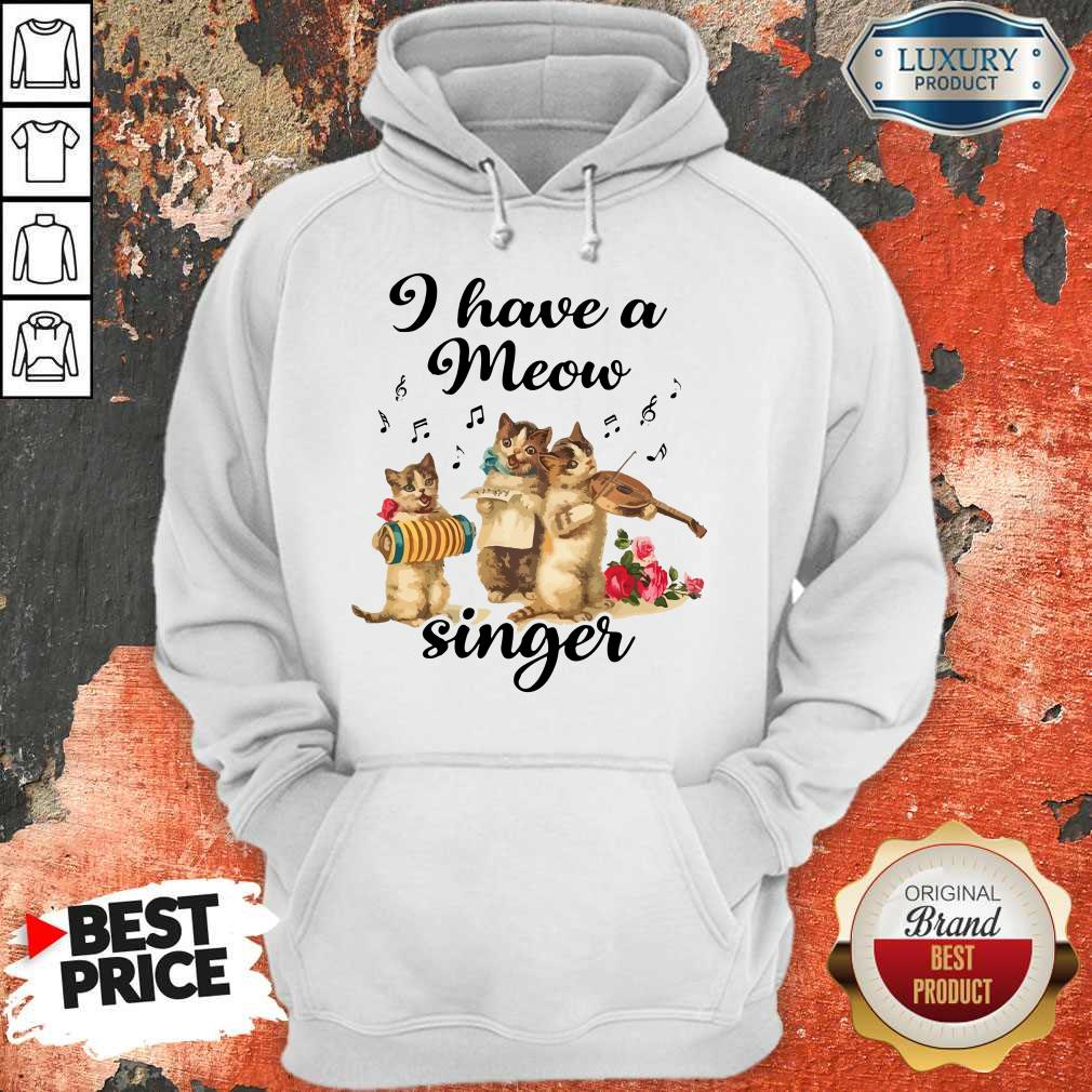Top I Have A Meow Singer Hoodie