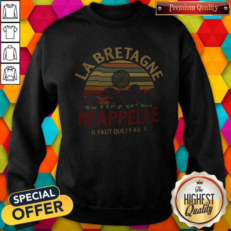 Top Labretagne Mappelle Il Faut Quejy Aille Vintage Retro Sweatshirt