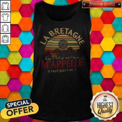 Top Labretagne Mappelle Il Faut Quejy Aille Vintage Retro Tank Top
