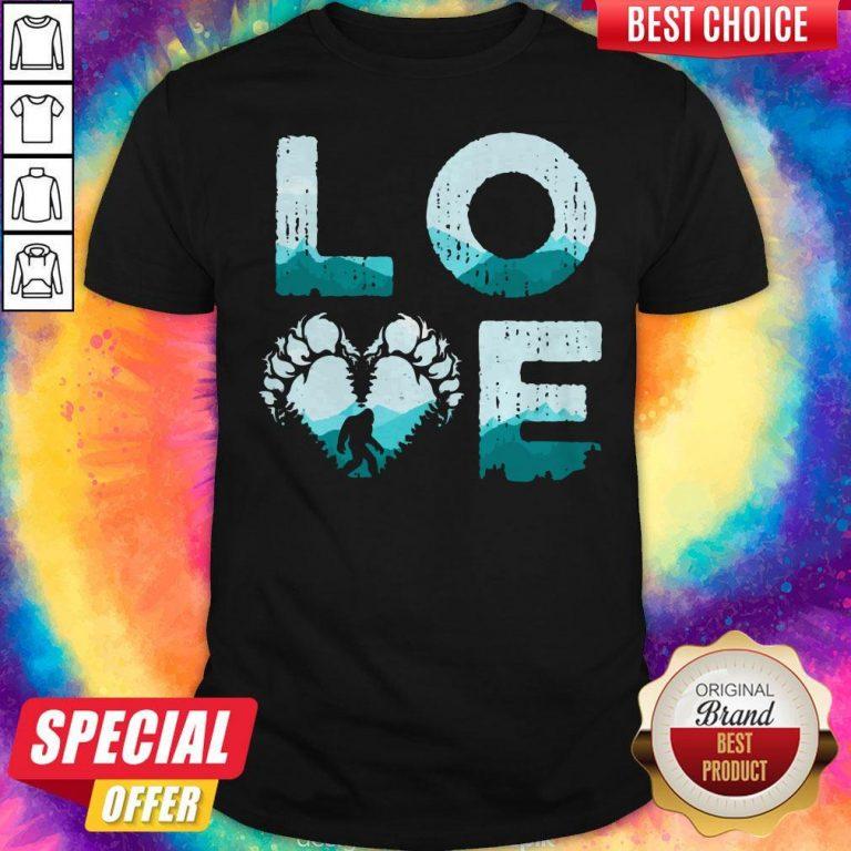 Top Love Bigfoot Mountain Shirt