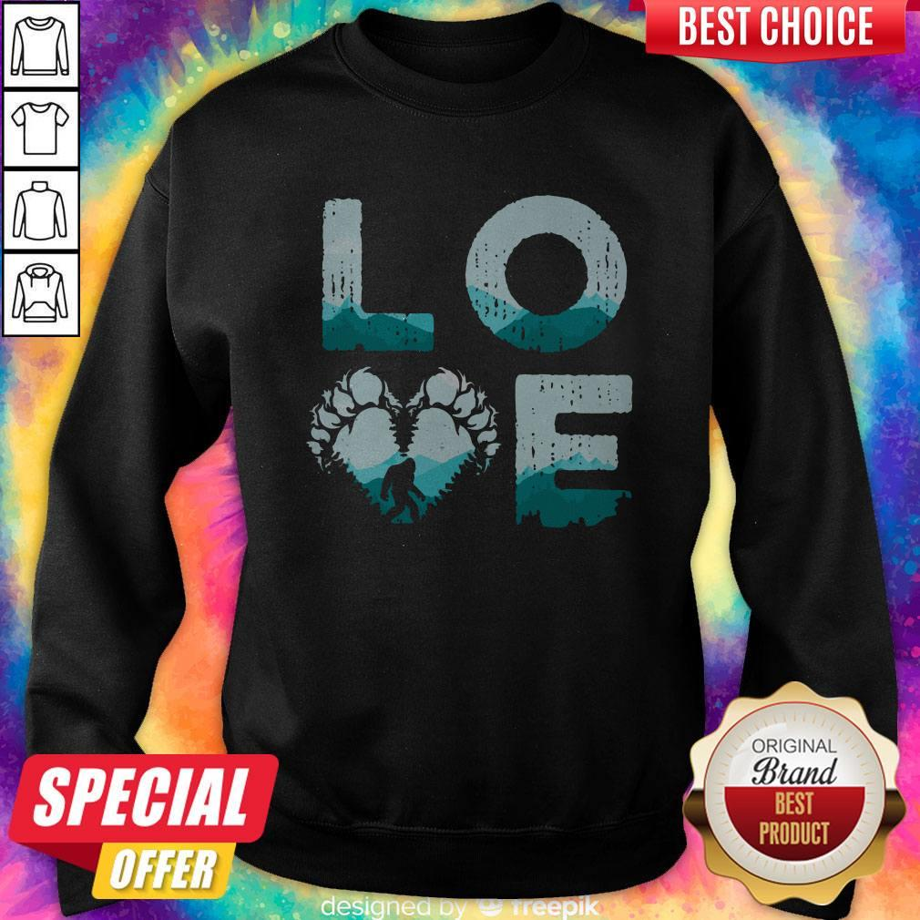 Top Love Bigfoot Mountain Sweatshirt