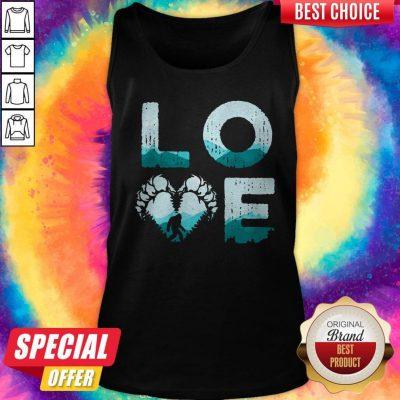 Top Love Bigfoot Mountain Tank Top