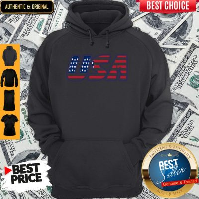 Top Usa American Flag Hoodie