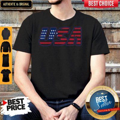 Top Usa American Flag Shirt