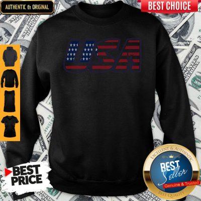 Top Usa American Flag Sweatshirt