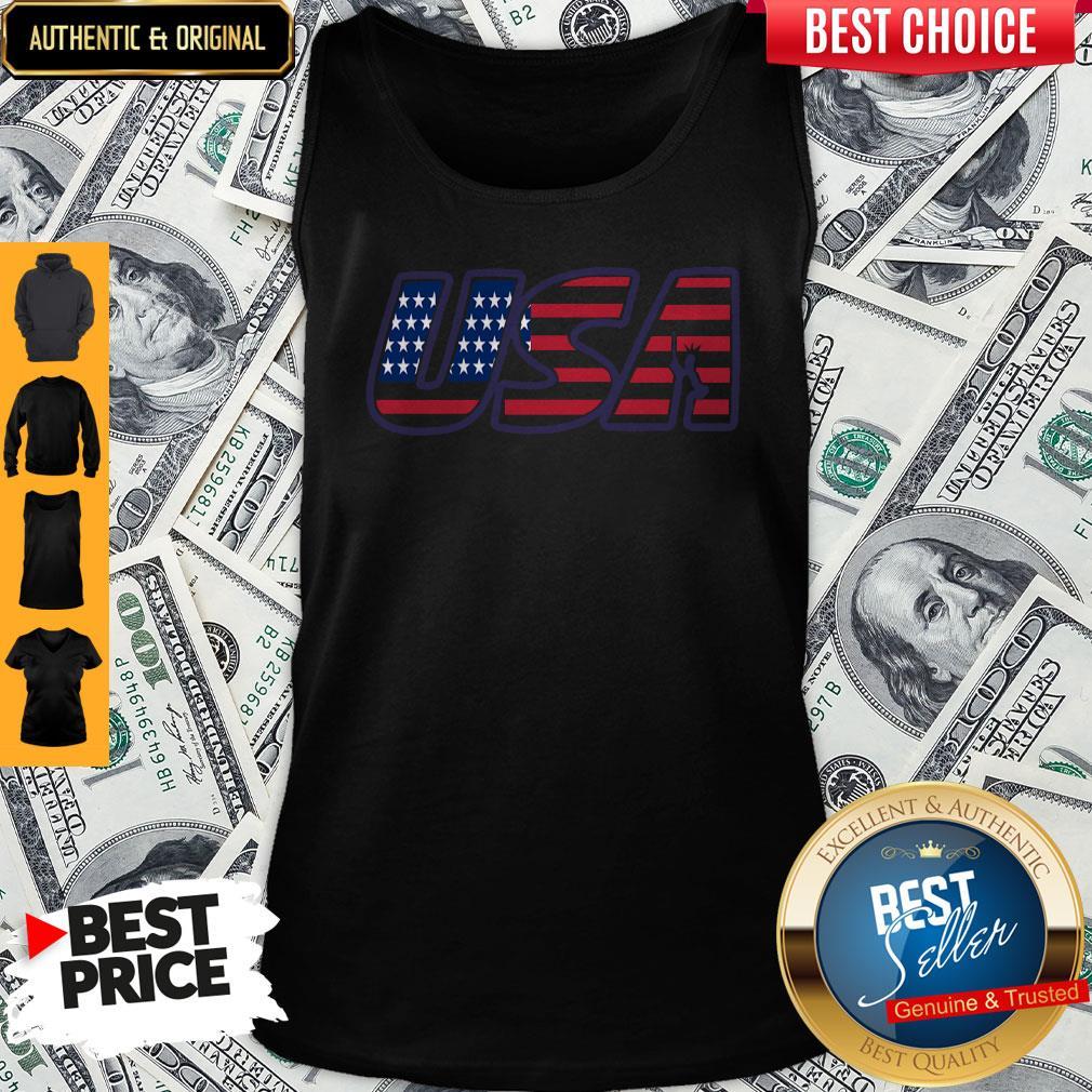 Top Usa American Flag Tank Top
