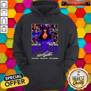 55 Years Of 1965 2020 Undertaker The Man The Myth The Legend Signature Hoodie