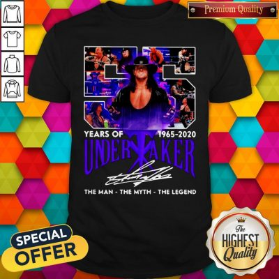 55 Years Of 1965 2020 Undertaker The Man The Myth The Legend Signature Shirt