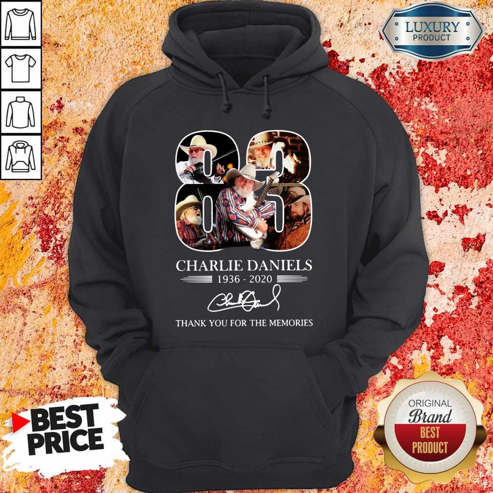 83 Charlie Daniels 1936 2020 Thank You For The Memories Signature Hoodie