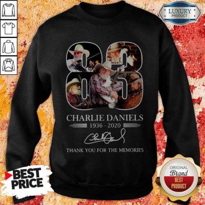 83 Charlie Daniels 1936 2020 Thank You For The Memories Signature Sweatshirt