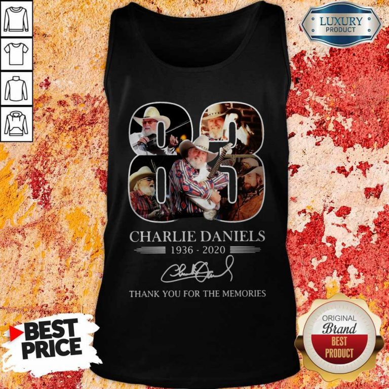83 Charlie Daniels 1936 2020 Thank You For The Memories Signature Tank Top