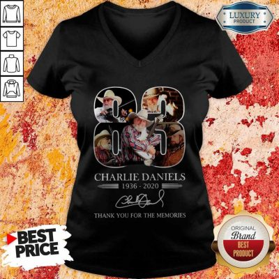 83 Charlie Daniels 1936 2020 Thank You For The Memories Signature V-neck