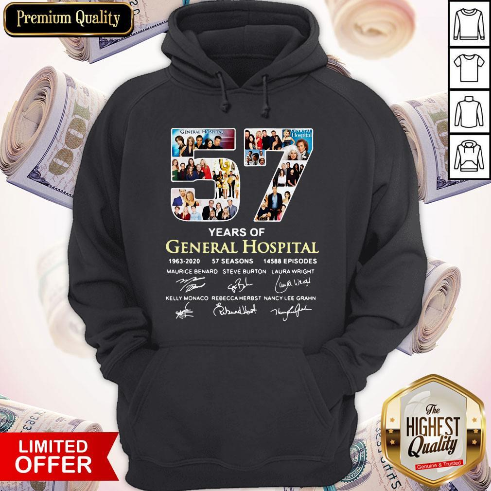 Awesome 57 Years Of General Hospital 1963 2020 Signatures Hoodie