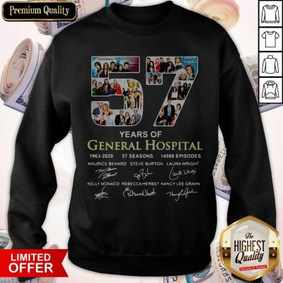 Awesome 57 Years Of General Hospital 1963 2020 Signatures Sweatshirt