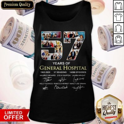 Awesome 57 Years Of General Hospital 1963 2020 Signatures Tank Top