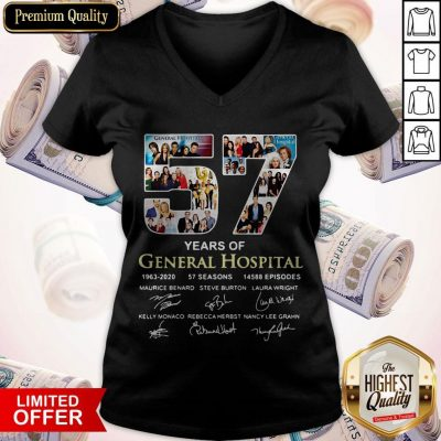Awesome 57 Years Of General Hospital 1963 2020 Signatures V-neck