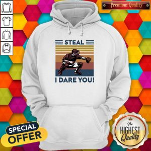 Awesome Baseball Steal I Dare You Vintage Hoodie