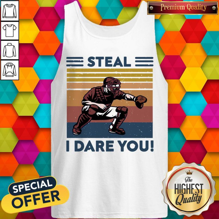 Awesome Baseball Steal I Dare You Vintage Tank Top