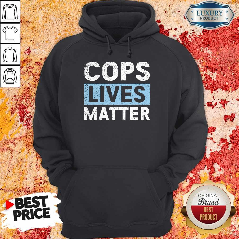 Awesome Cops Lives Matter Hoodie
