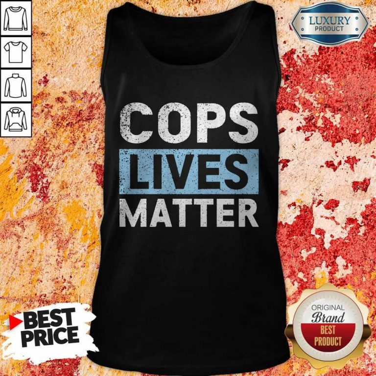Awesome Cops Lives Matter Tank Top