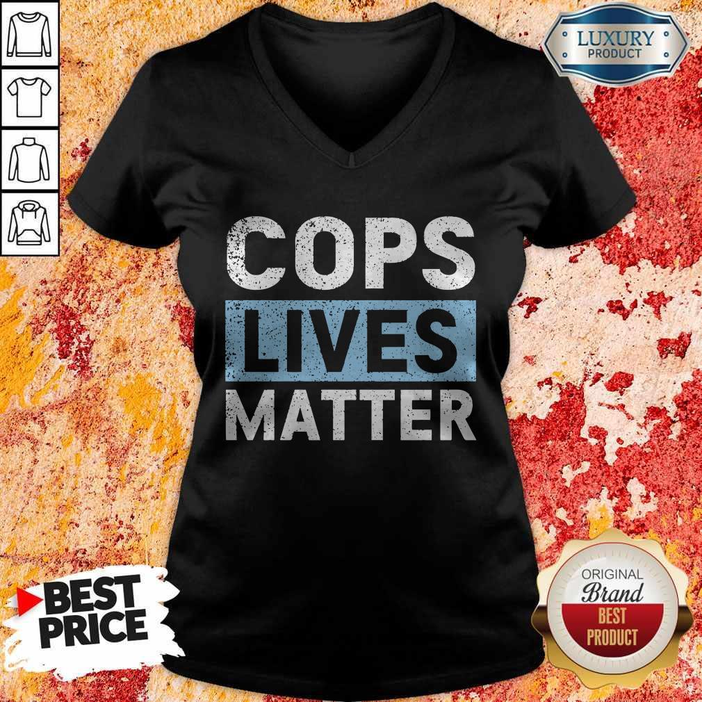 Awesome Cops Lives Matter V-neck