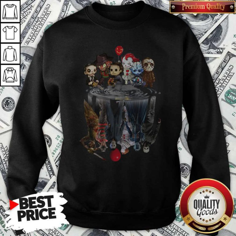 Awesome Horror Movie Character Shadows Sweatshirt