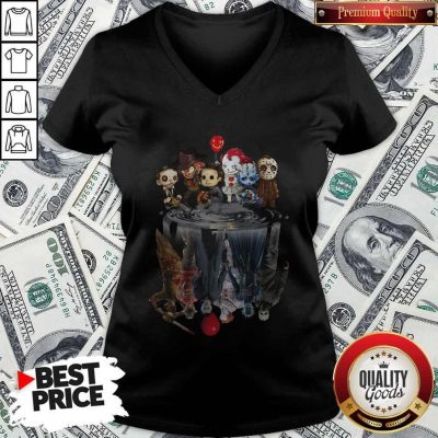 Awesome Horror Movie Character Shadows V-neck
