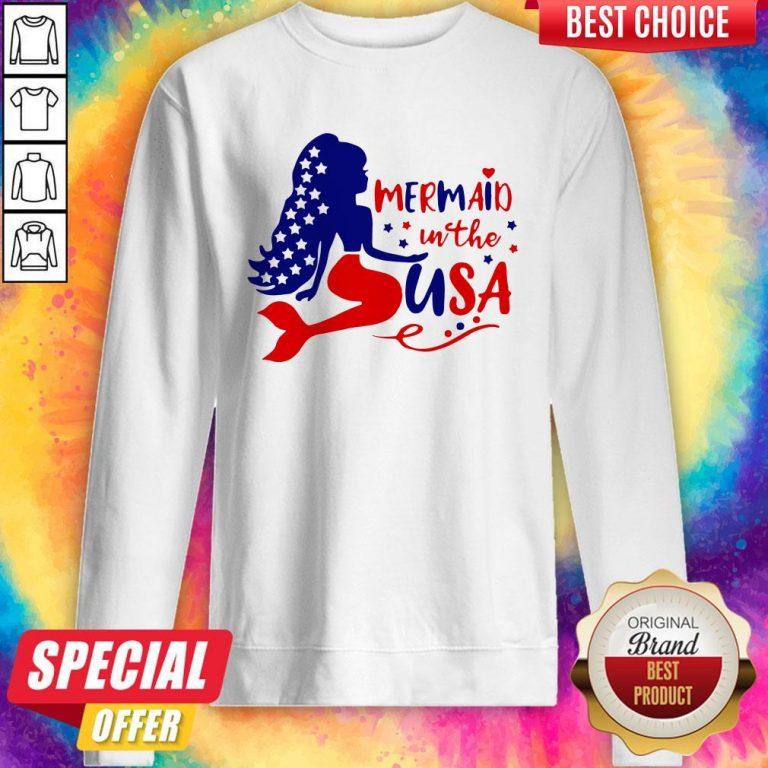 Awesome Mermaid In The USA Sweatshirt