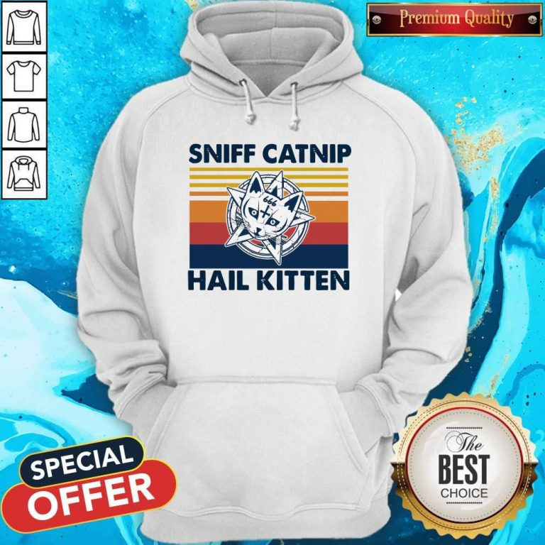 Awesome Sniff Catnip Hail Kitten Vintage Hoodie