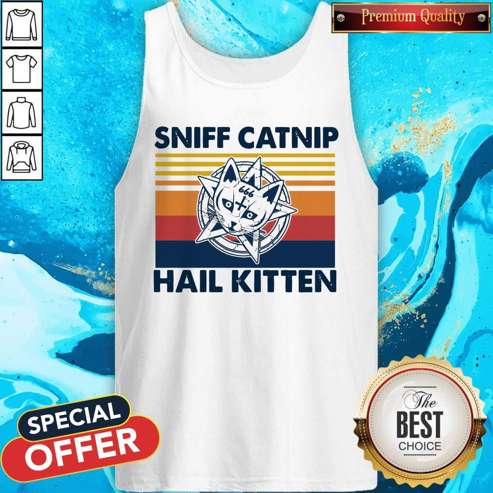 Awesome Sniff Catnip Hail Kitten Vintage Tank Top