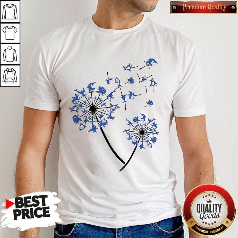 Awesome Yoga Shark Dandelion Shirt