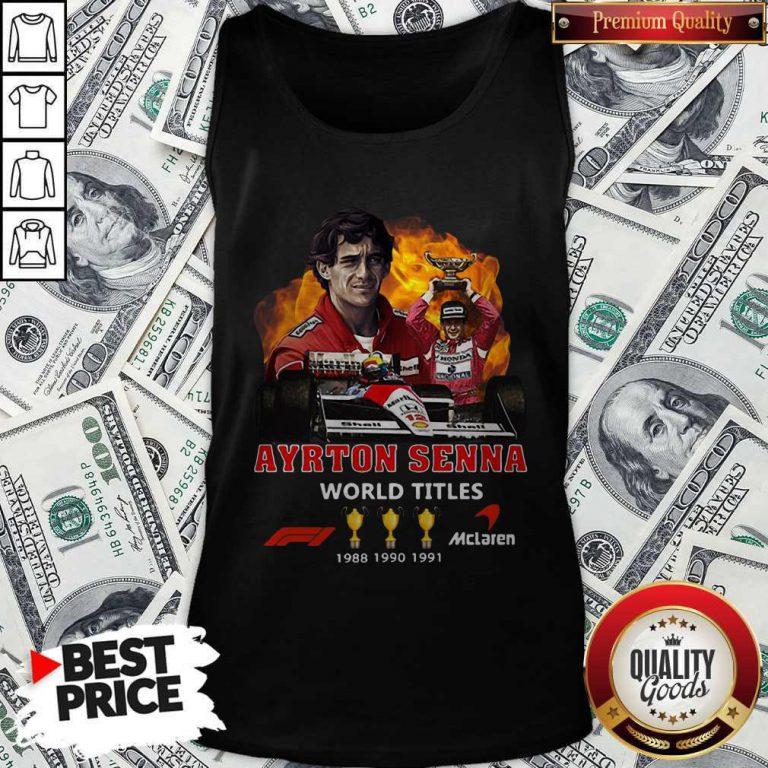 Ayrton Senna World Titles 1988 1990 1991 Signature Tank Top