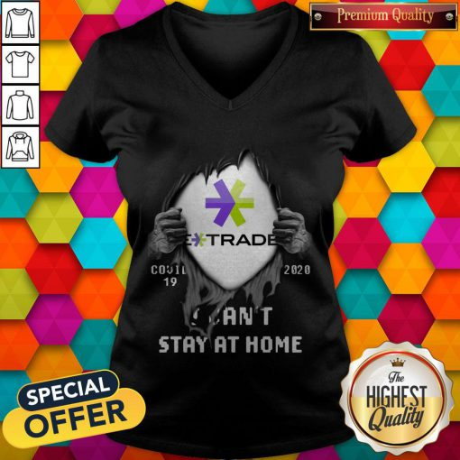 Blood Inside Me E-Trade COVID-19 2020 I Can't Stay At Home V-neck