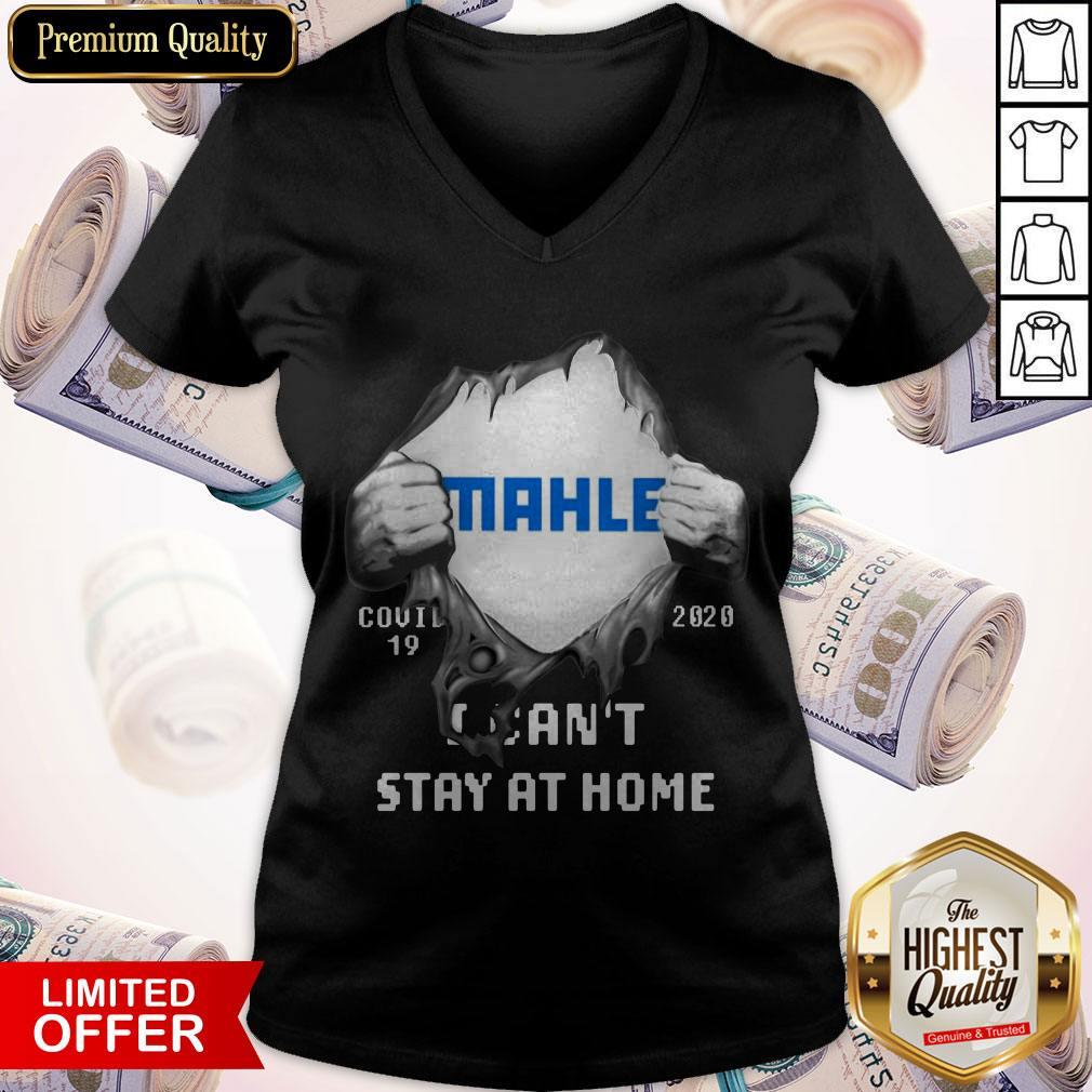 Blood Inside Me MAHLE GmbH COVID-19 2020 I Can't Stay At Home V-neck