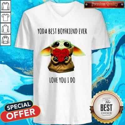 Cute Baby Yoda Best Boyfriend Ever Love You I Do V-neck