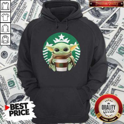 Cute Baby Yoda Hug Starbucks Hoodie