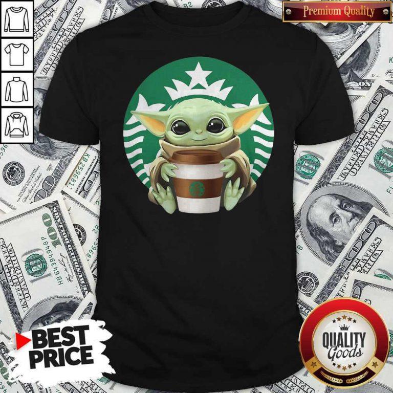 Cute Baby Yoda Hug Starbucks Shirt