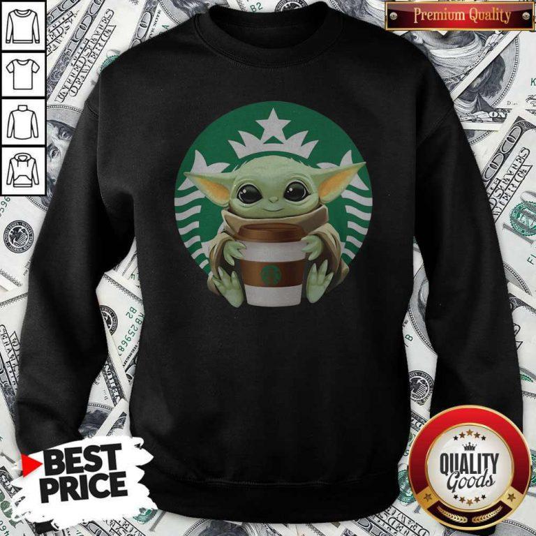 Cute Baby Yoda Hug Starbucks Sweatshirt