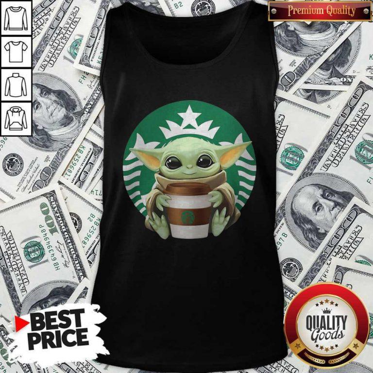 Cute Baby Yoda Hug Starbucks Tank Top