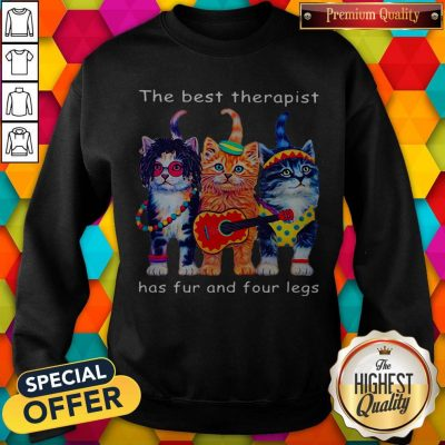 Cute Cats The Best Therapist Has Fur And Four Legs Sweatshirt