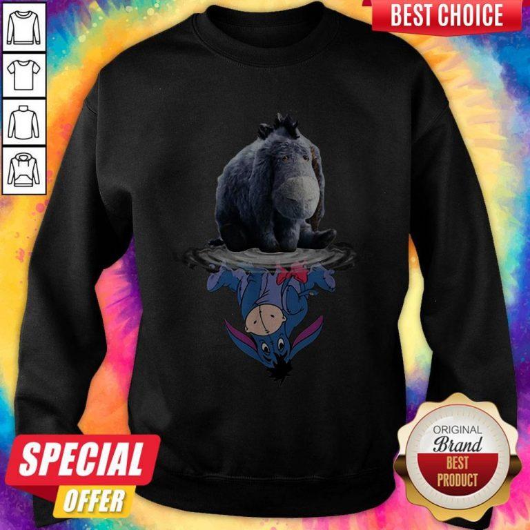 Cute Disney Eeyore Reflection Water Mirror Sweatshirt