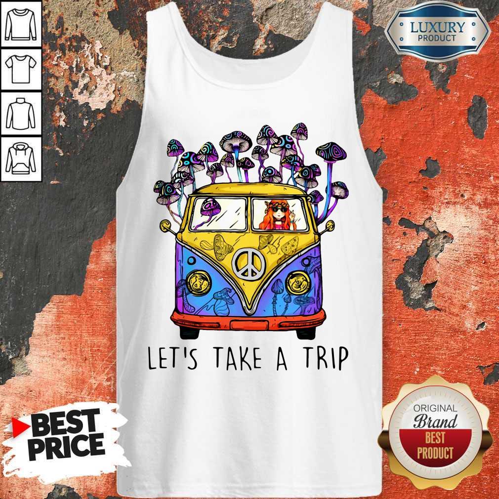 Cute Hippie Girl Let's Take A Trip Tank Top