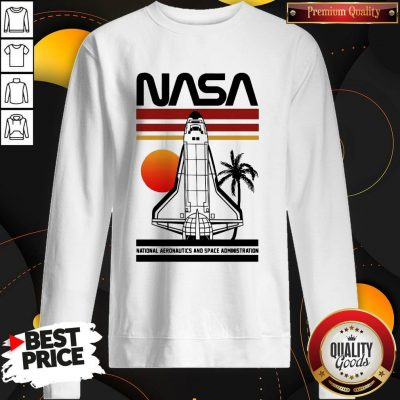Cute Nasa Rocket Tree Sunset Vintage Retro Sweatshirt