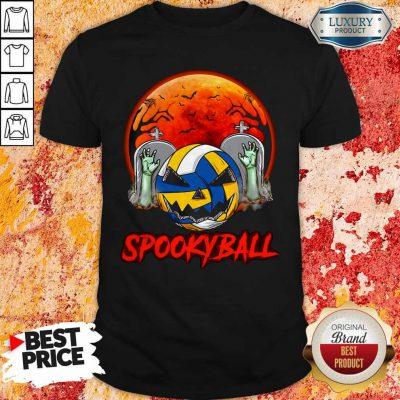 Cute Sookyball Sunset Tomb Ghost Halloween Shirt