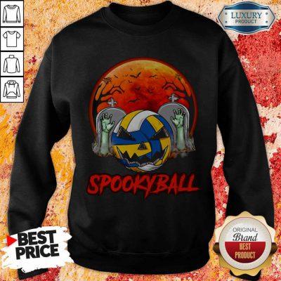 Cute Sookyball Sunset Tomb Ghost Halloween Sweatshirt