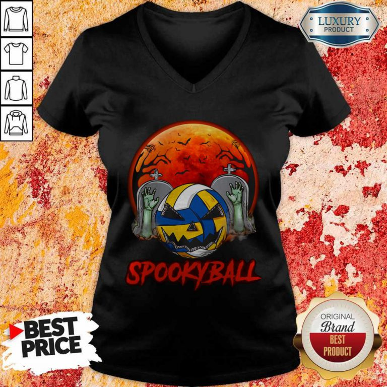 Cute Sookyball Sunset Tomb Ghost Halloween V-neck