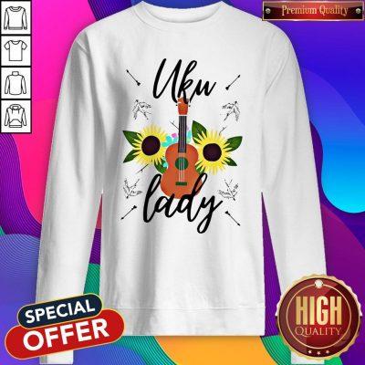 Cute Uku Lady Sunflower Sweatshirt