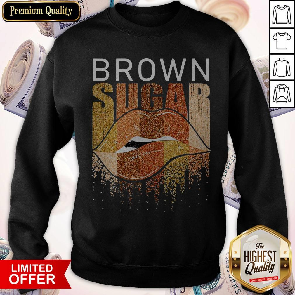 Funny Brown Sugar Lip Diamond Sweatshirt